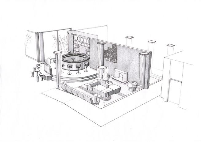 Hotel Lobby Bar Area Concept