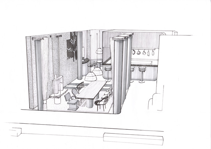 Open Kitchen Hotel Dining Concept