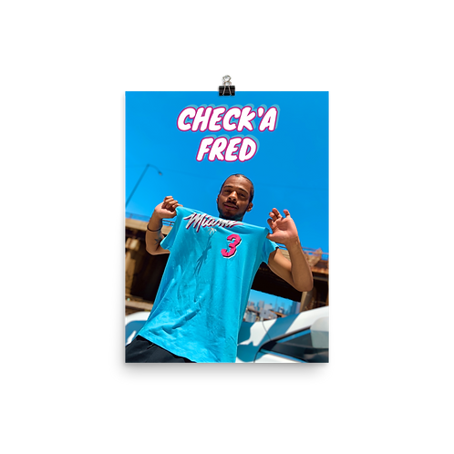 Check'a Fred Poster