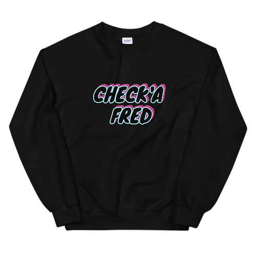 Check'a Fred Crewneck Black