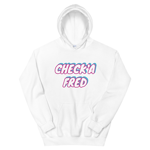 Check'a Fred Hoodie White