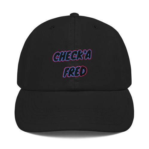 Check'a Fred Dad Hat Black