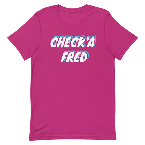 Check'a Fred Vice T-Shirt (Pink)