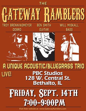Bluegrass trio, PBC Studios, Bethalto