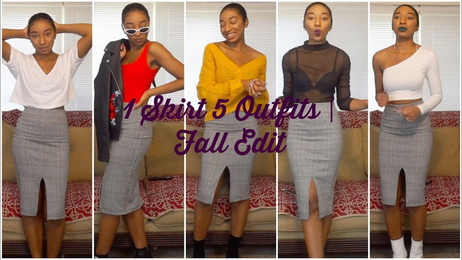1 Skirt 5 Outfits Fall Outfit Ideas