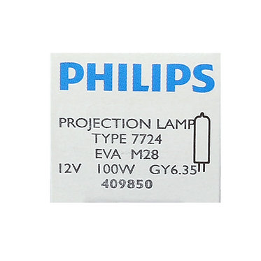 PHILIPS 7724 100W GY6.35 12V EVA
