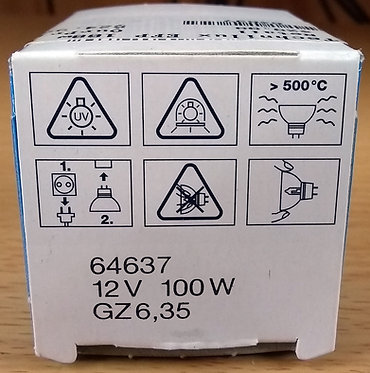 OSRAM 64637 12V 100W G6.35 (Long life 1500 Hrs lamp)
