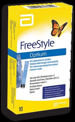 FreeStyle Optium teststrips teststrēmeles 10