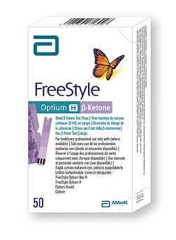 FreeStyle Optium H beta ketone N50 teststrips teststrēmeles
