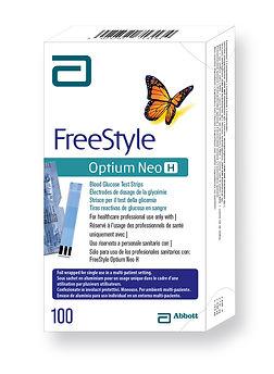 FreeStyle Optium Neo H teststrips teststrēmeles 100
