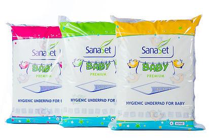 SanaSet Baby Premium Green Pink Yellow 60x60