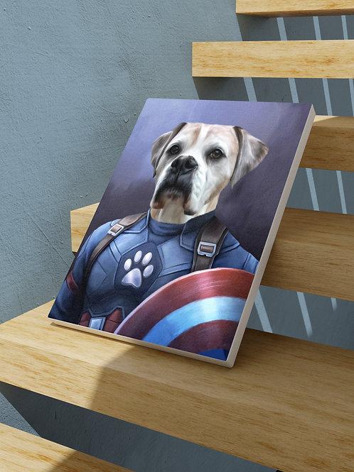 איור בסגנון ״קפטן אמריקה״