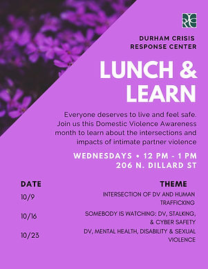 Lunch & Learn 2019 schedule