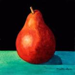Pear on Blue