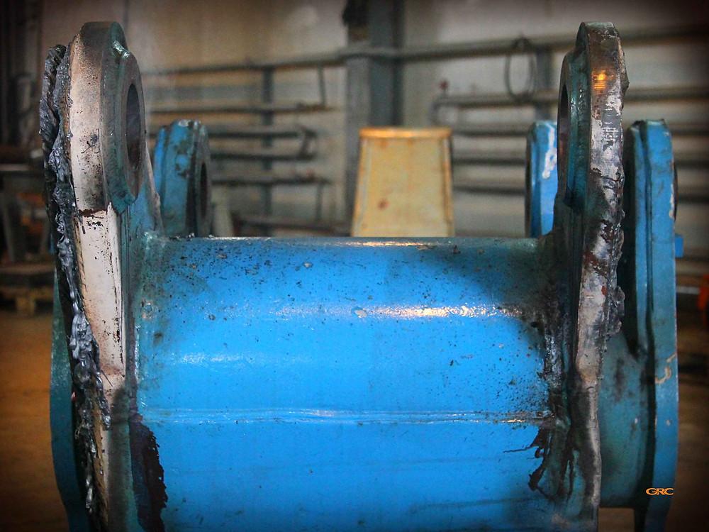 демонтируем проушины с рукояти Фукс-320