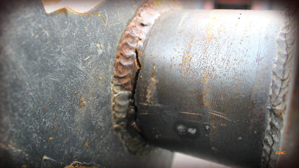 трещина на вале ротора дробилки