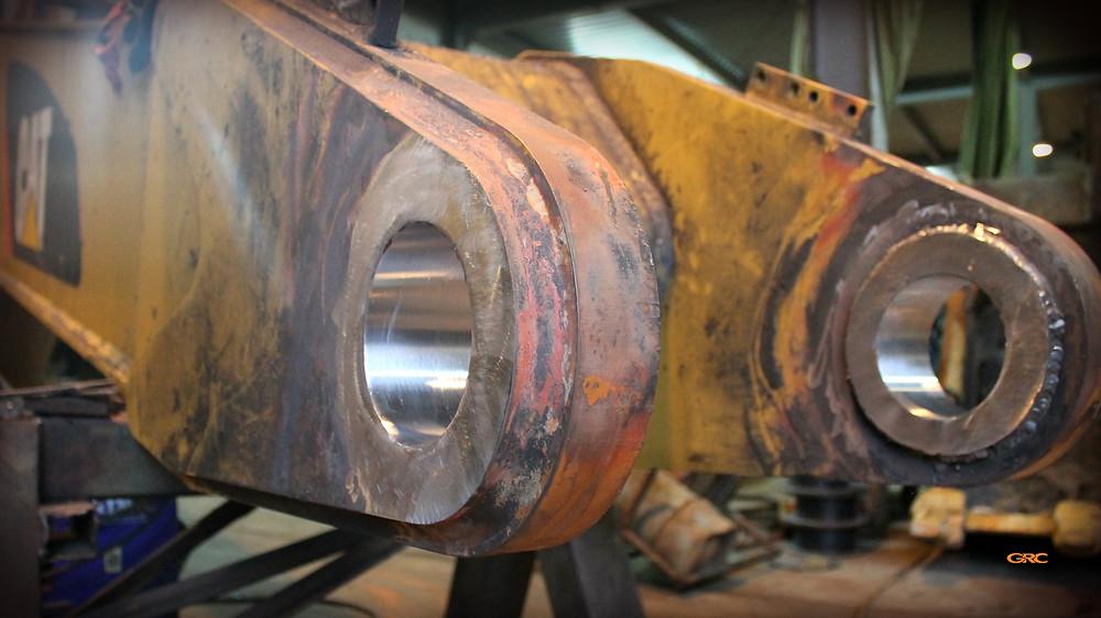 вторая ось стерлы экскаватора после ремонта