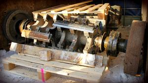 ротор дробилки привезли на ремонт
