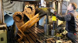 Восстановление направляющих для пресс-ножниц Akros-608