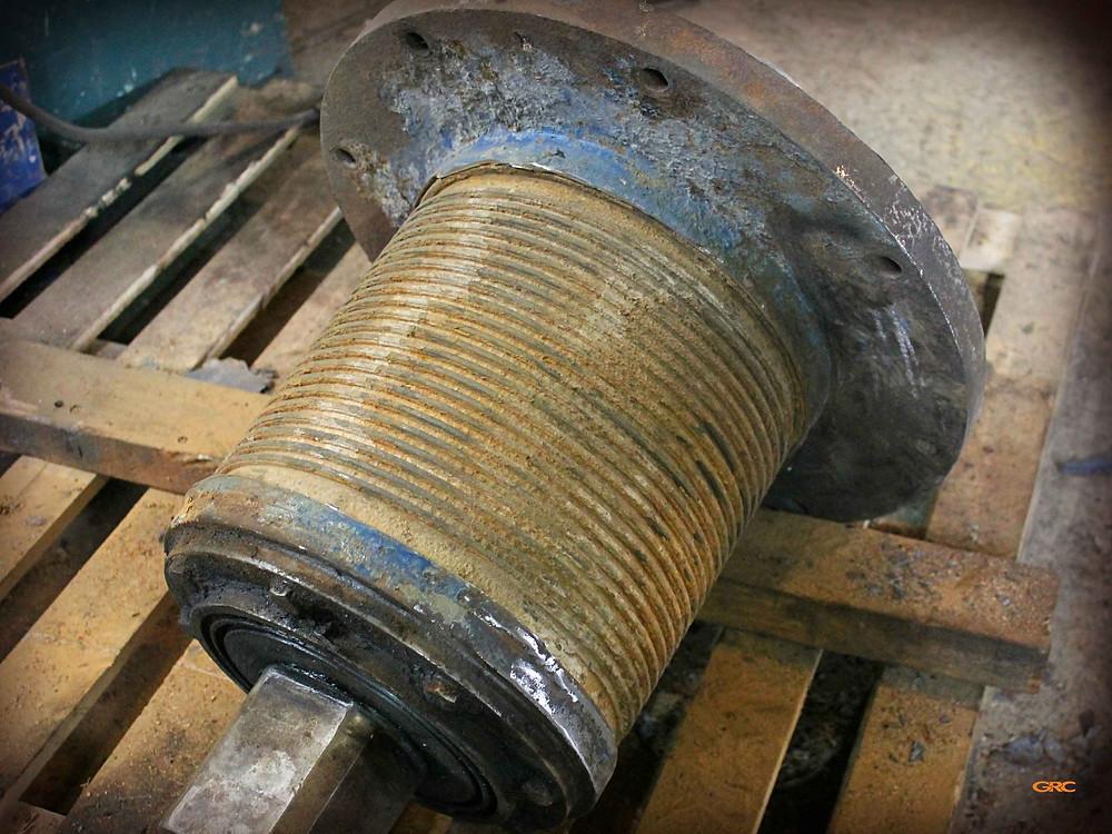 подшипниковый узел после демонтажа корпуса