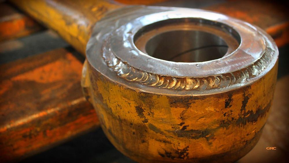 привариваем уплотнительное кольцо