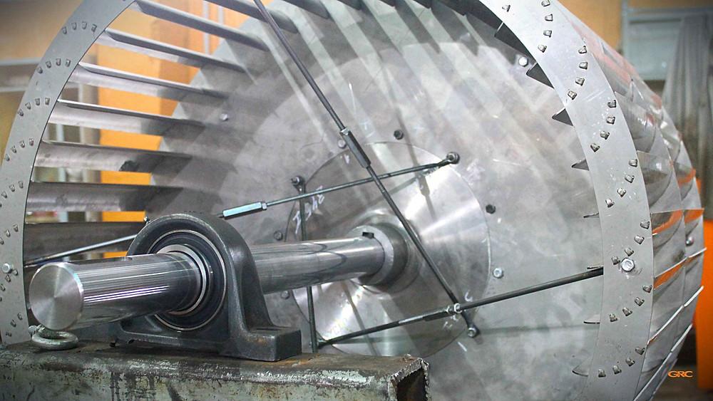 центробежная вентиляционная крыльчатка после сборки