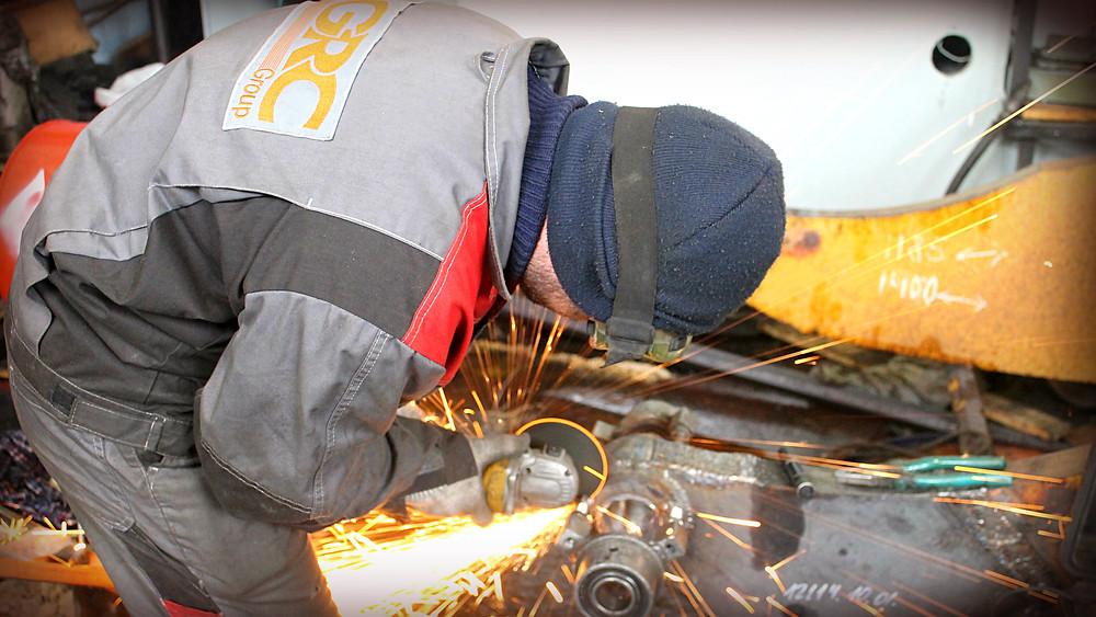 демонтаж оборудования после наплавки и расточки