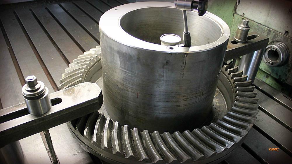 проверяем внутренний диаметр ведомой шестерни