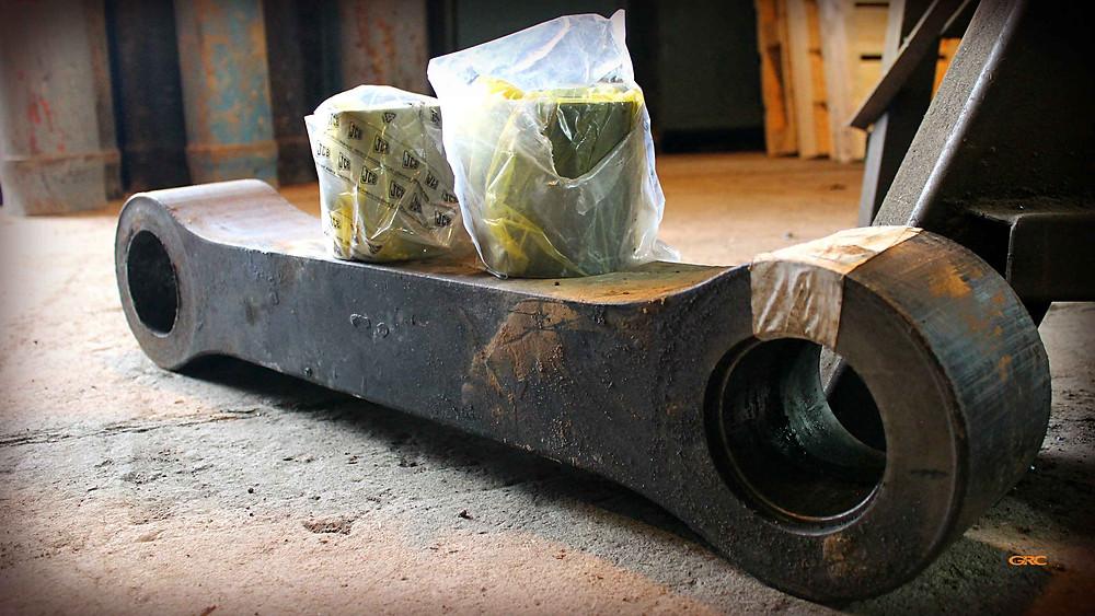 Ремонт тяги погрузчика под новые втулки