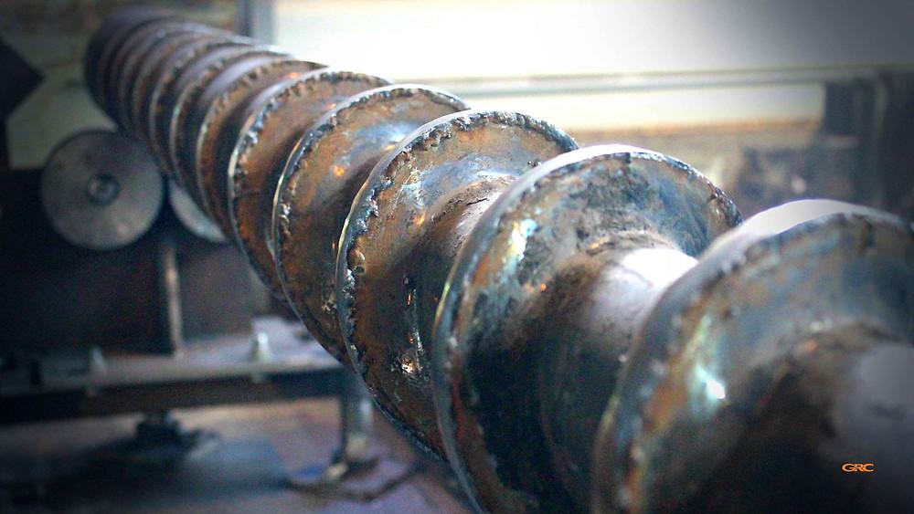 восстановили диаметр витков шнека