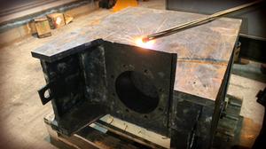 обезжириваем поверхности методом нагрева