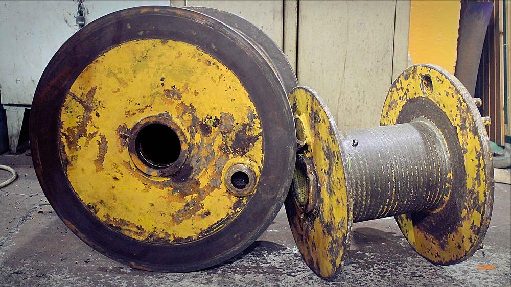 ремонт осей на барабанах башенного крана