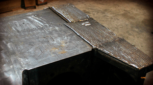 наплавляем металл на стенки куба