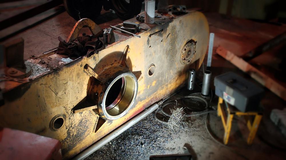 готовая задняя ось автогрейдера в сборе после ремонта