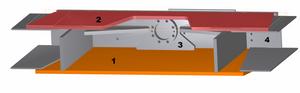 сборочная модель боковика пресс ножниц