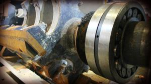 новые подшипники на роторе дробилки