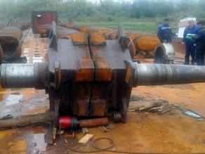Восстановление шеек вала верхнего барана земснаряда ПЧС-600