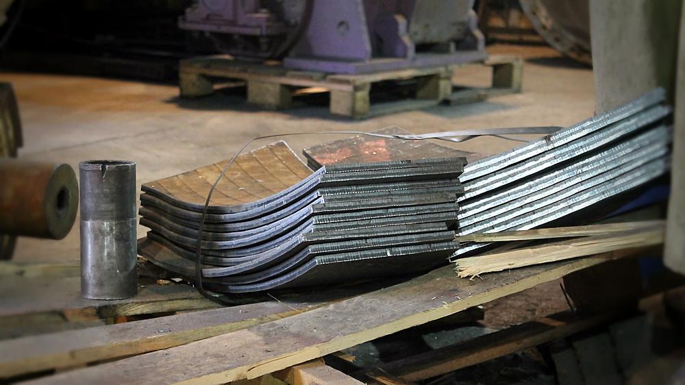 изготовленные биметаллические плиты с покрытием