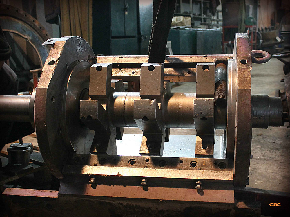 устанавливаем ротор дробилки redoma в корпус