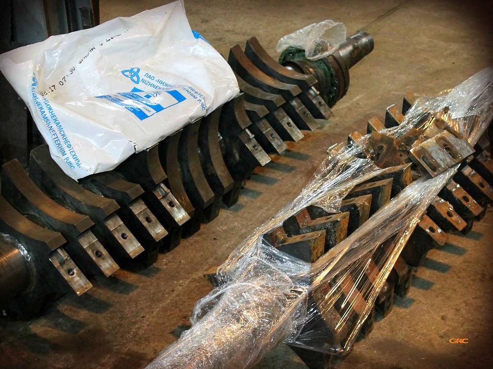 Восстановление резьбы на билах дробилки