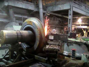 Восстановление посадок под бронь на конусе главного вала дробилки Sandvik H-8800