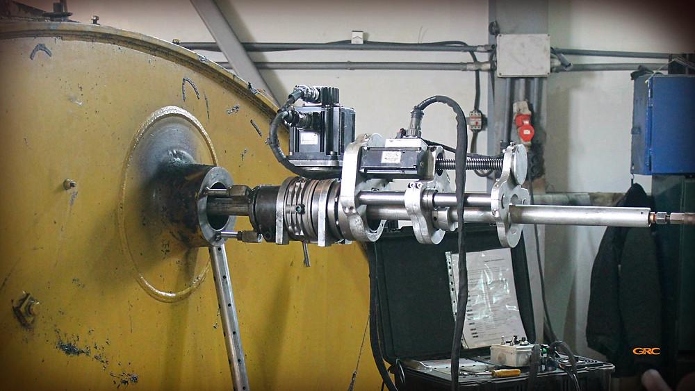 устанавливаем мобильное оборудование на стрелу экскаватора