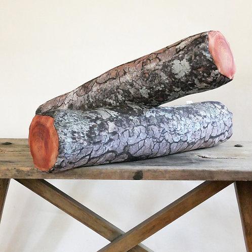 Log pillow : Mossy Log