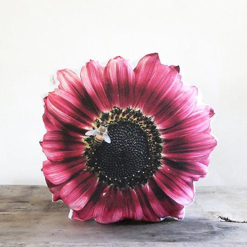 Flower pillow : Sunflower / Bee