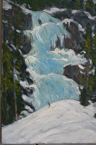 Ice Scaling the Waterfall, Lake Louise
