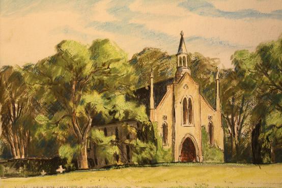Village Church near Christchurch England