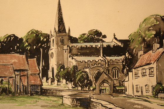 Village Church Burneston Yorkshire