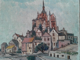 Mount St. Michel Cathedral from town