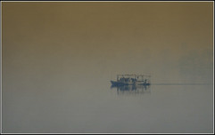 Misty Morning Ferry by Alan M