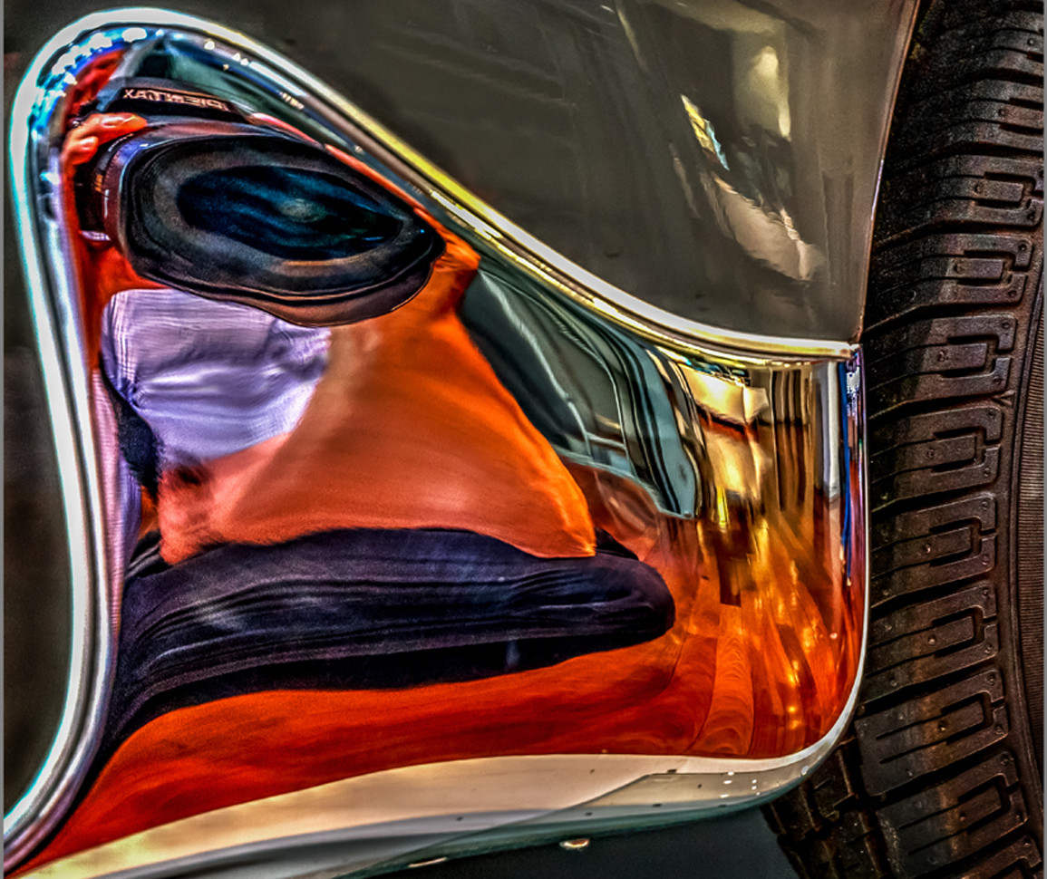 Mercedes reflection by Alfred C
